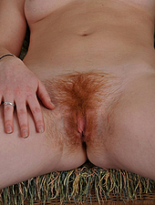 Sexy Pale And Hairy Redhead Amateur Shows Her Bush