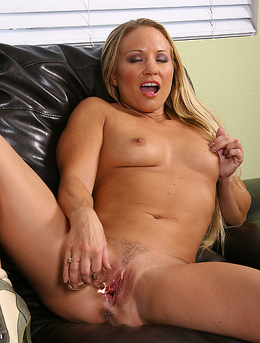 Tight Bodied Blonde Milf Enjoys Her Toy On The Couch