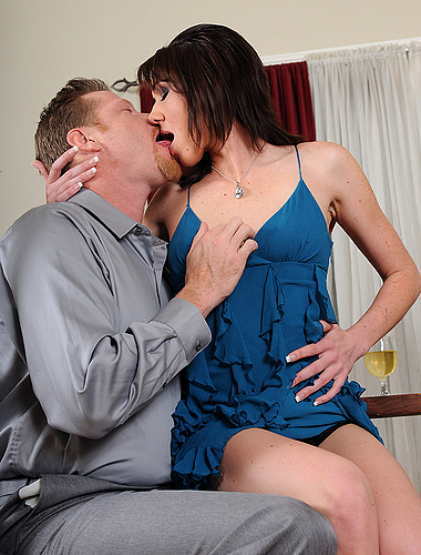 Katie gets her mature pussy filled with throbbing cock in this gallery