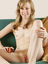 Slim And Hairy Blonde Amateur Girl Shows Everything