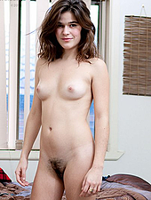 Beautiful Hairy Brunette Amateur Strip Teases Out Of Her Clothes