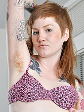 Hairy Redheaded Indie Girl Spreads And Fingers Herself