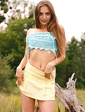 Lucy G loves the great outdoors so much it gets her hot. A short walk turns into a hairy outdoor spectacular when Lucy removes her thong and shows the world her fluffy holes.