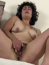 Hairy girl Valerie has a solo dance party