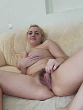 Lena proves how hairy her body is