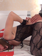 Mary is restrained and fucked in lingerie