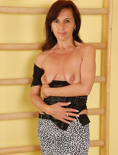 Petite 46 year old jenny h from allover30 spreads her small ass wide