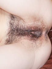 Hairy girl Erika has a tight hairy body