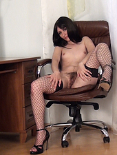 Hairy Mary begins a slow striptease in her room