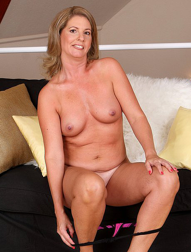 Dirty Blond Milf Strips Down To Just Her High Heels