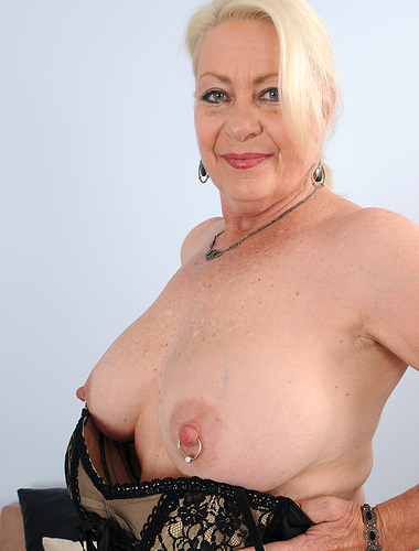 At 60 years old Angelique's massive melons are looking fantastic