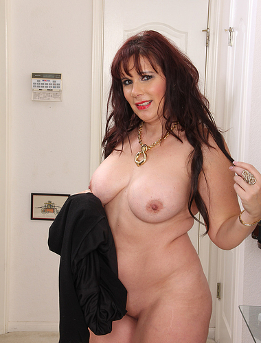 Big titted Sasha Karr from AllOver30 lets loose the canons in here